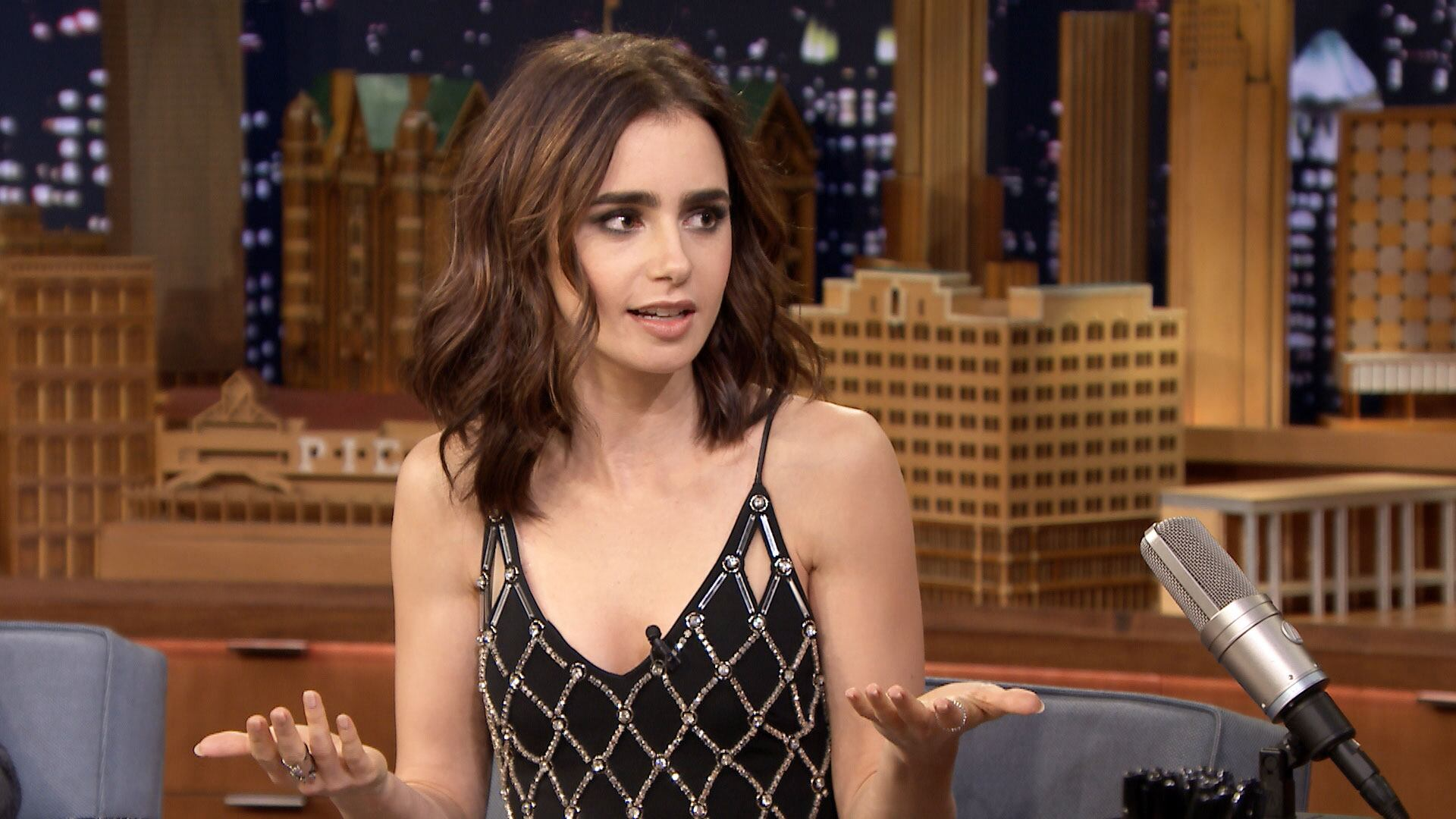Lily Collins' First Phone Call with Warren Beatty Started with a Prank