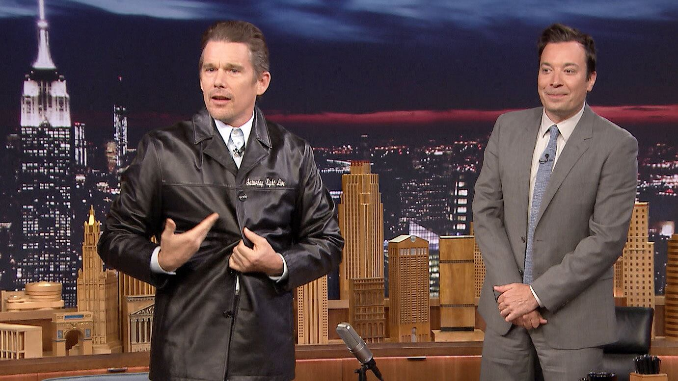 Jimmy Gifts Ethan Hawke His Embarrassing SNL Jacket