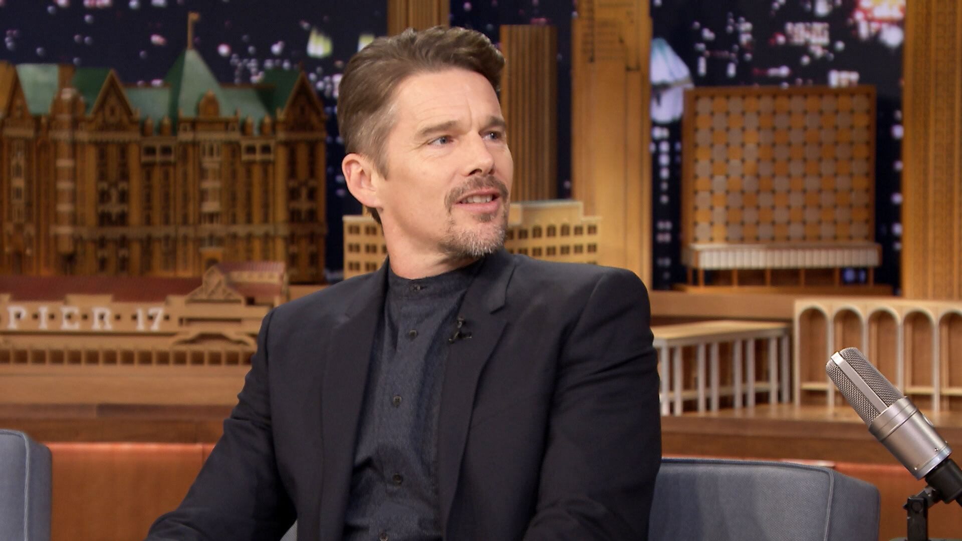 Ethan Hawke Showers in Jimmy's Embarrassing SNL Jacket