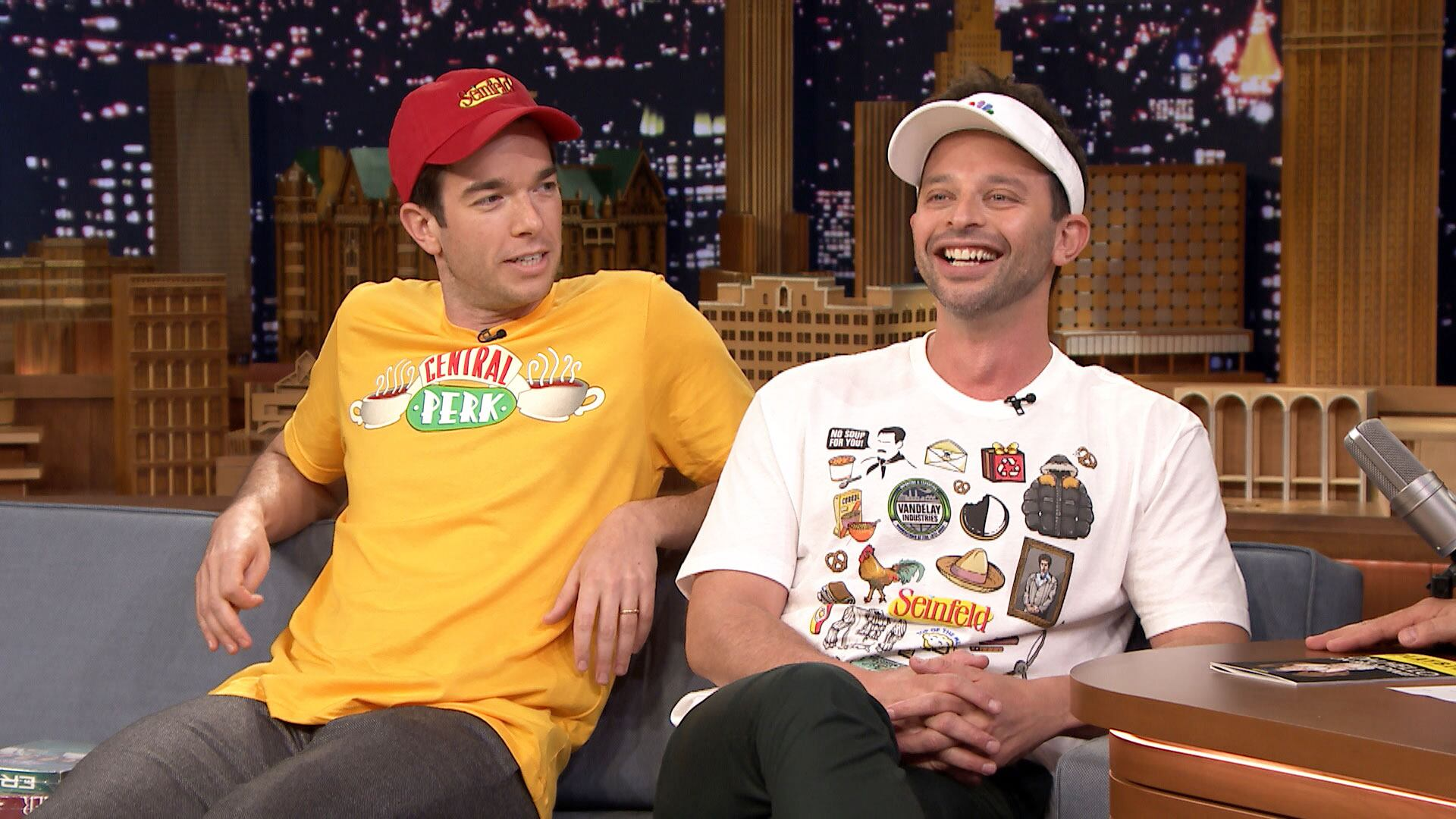 Nick Kroll and John Mulaney Show Off Their NBC Store Swag