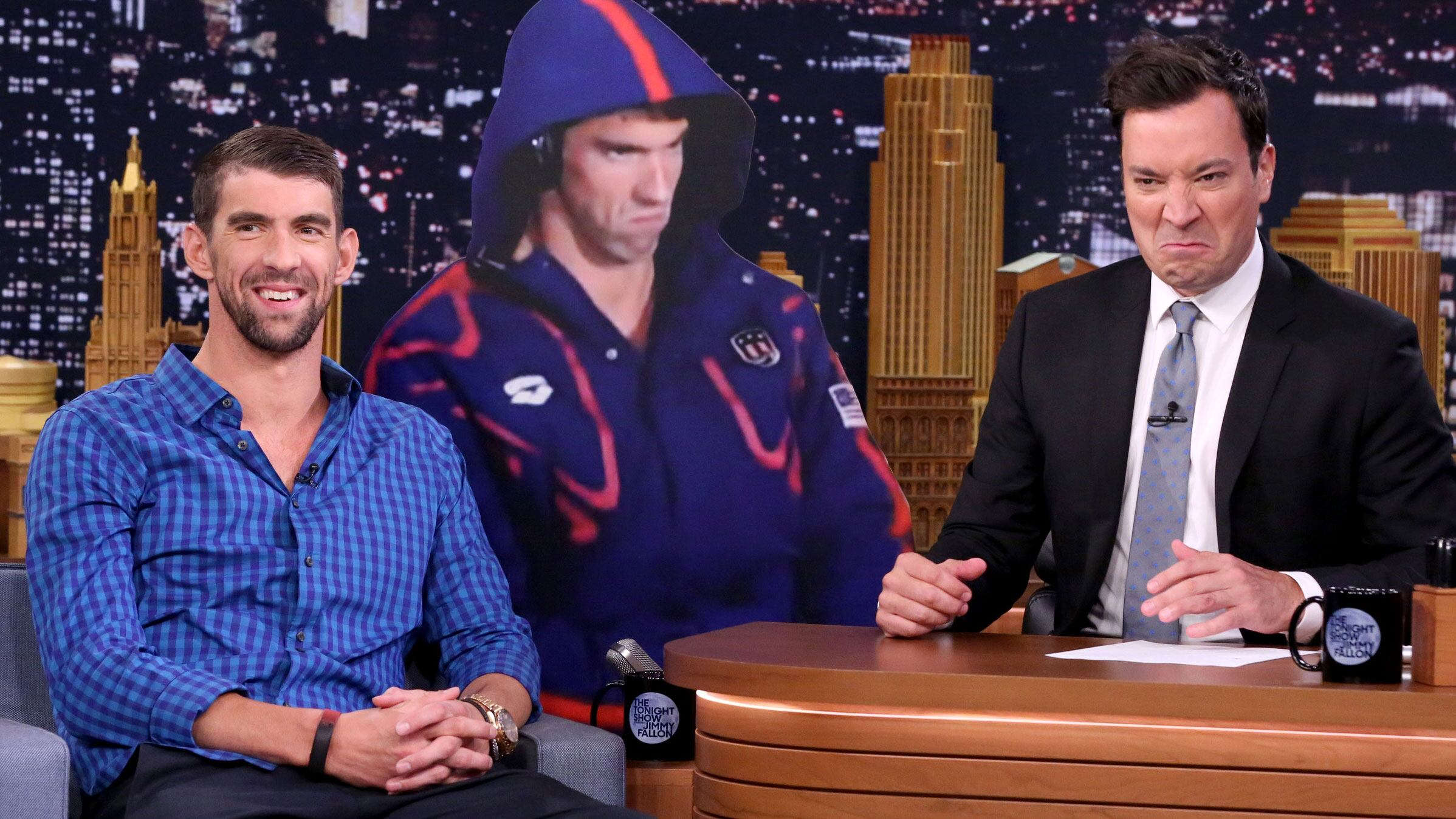 Michael Phelps Gets a Life-Size Cutout of His Angry Olympic Face