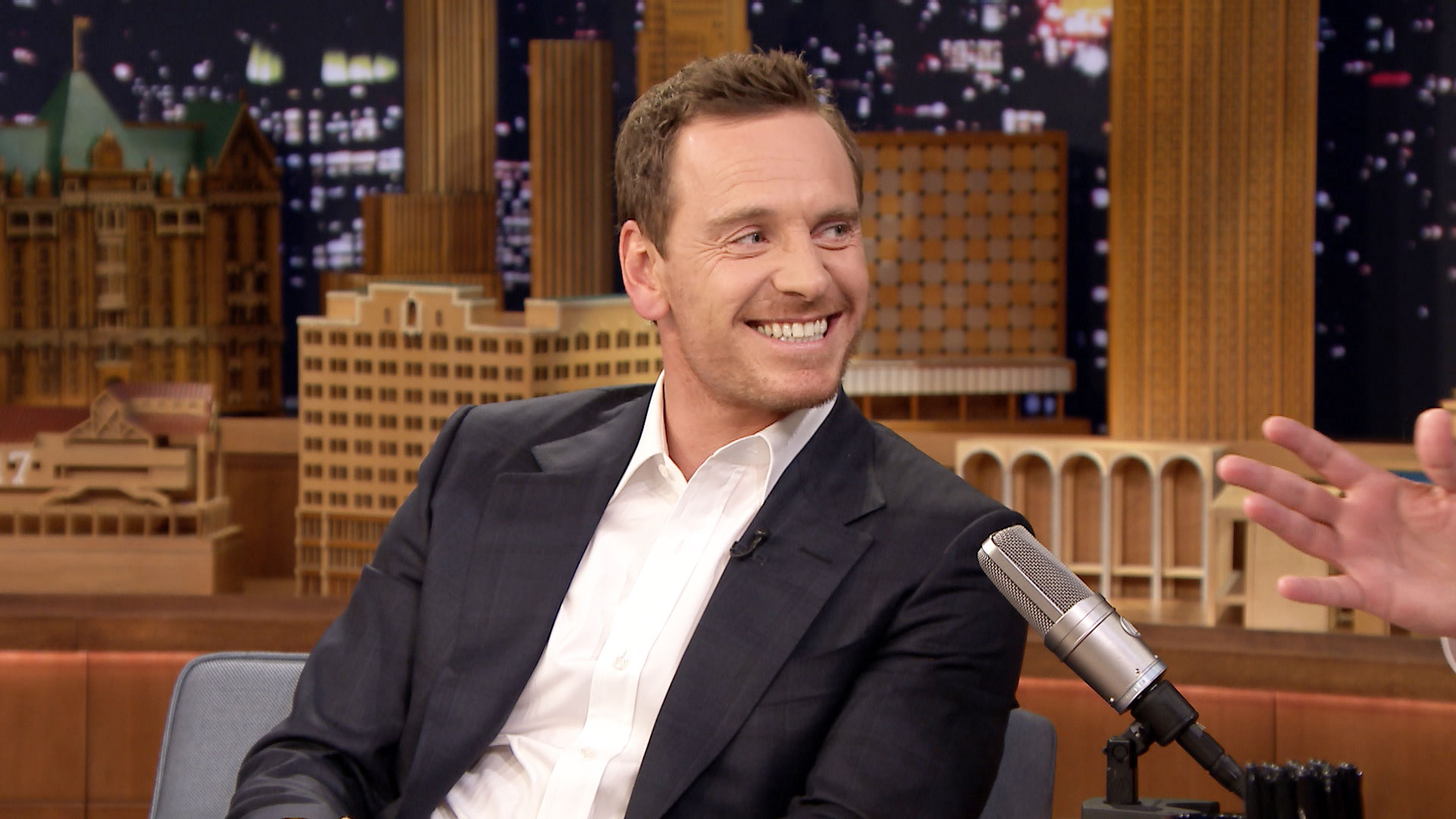 Michael Fassbender Wants a Slide from His Bedroom to the Bathtub