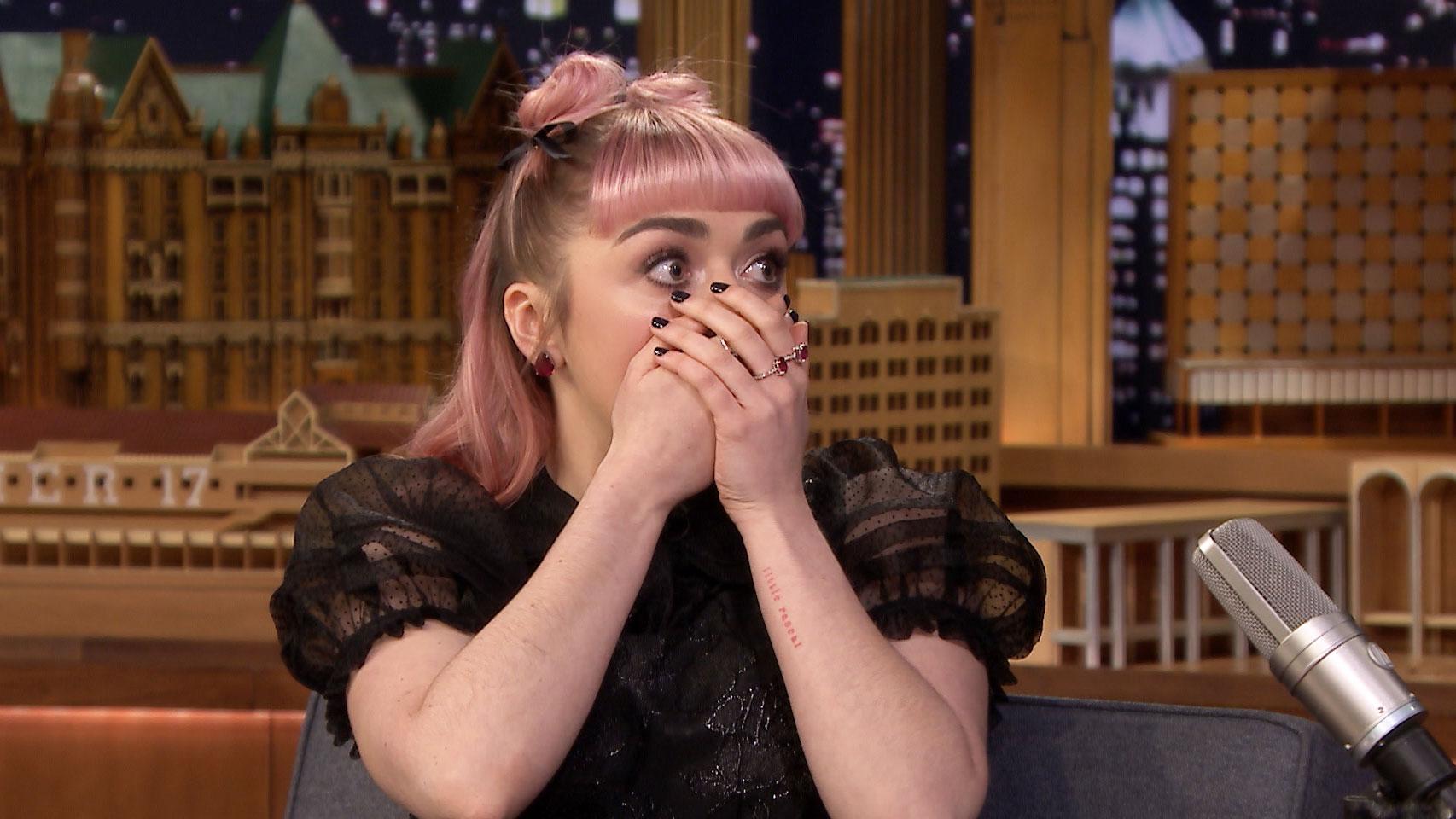 A shocked Maisie Williams