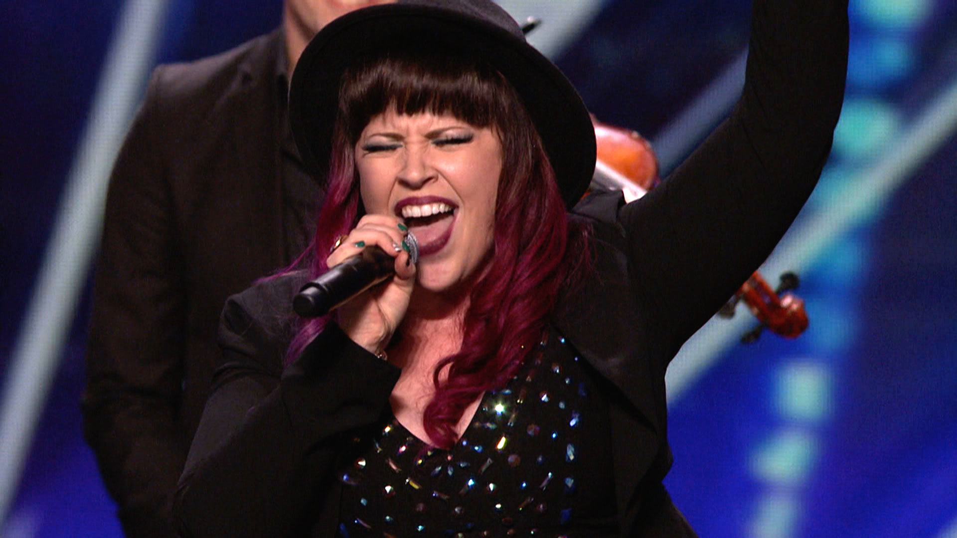 Americas Got Talent finalist Stacey Kay performs in