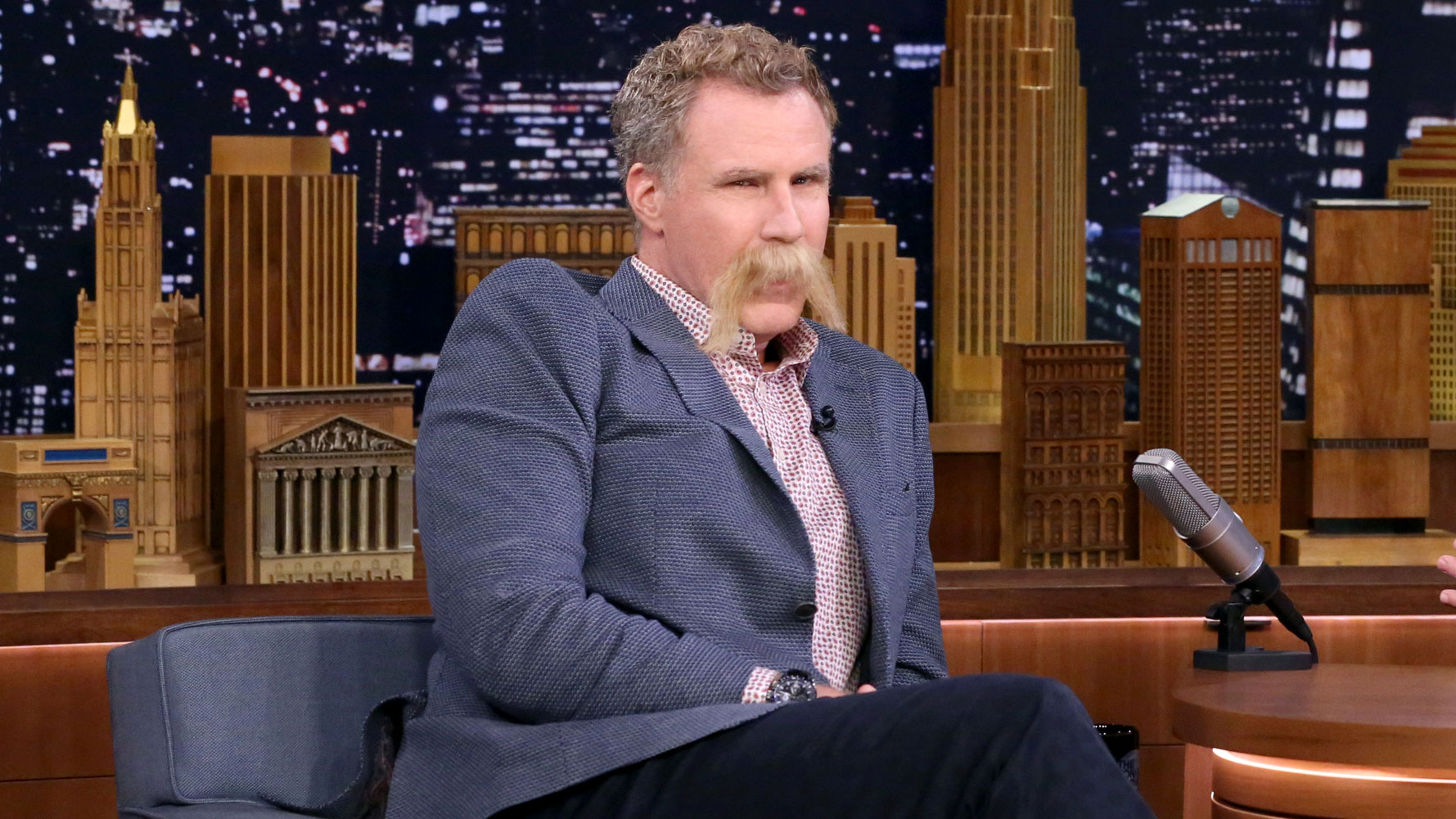 Will Ferrell Gets in on Jimmy's Summer of 'Stache