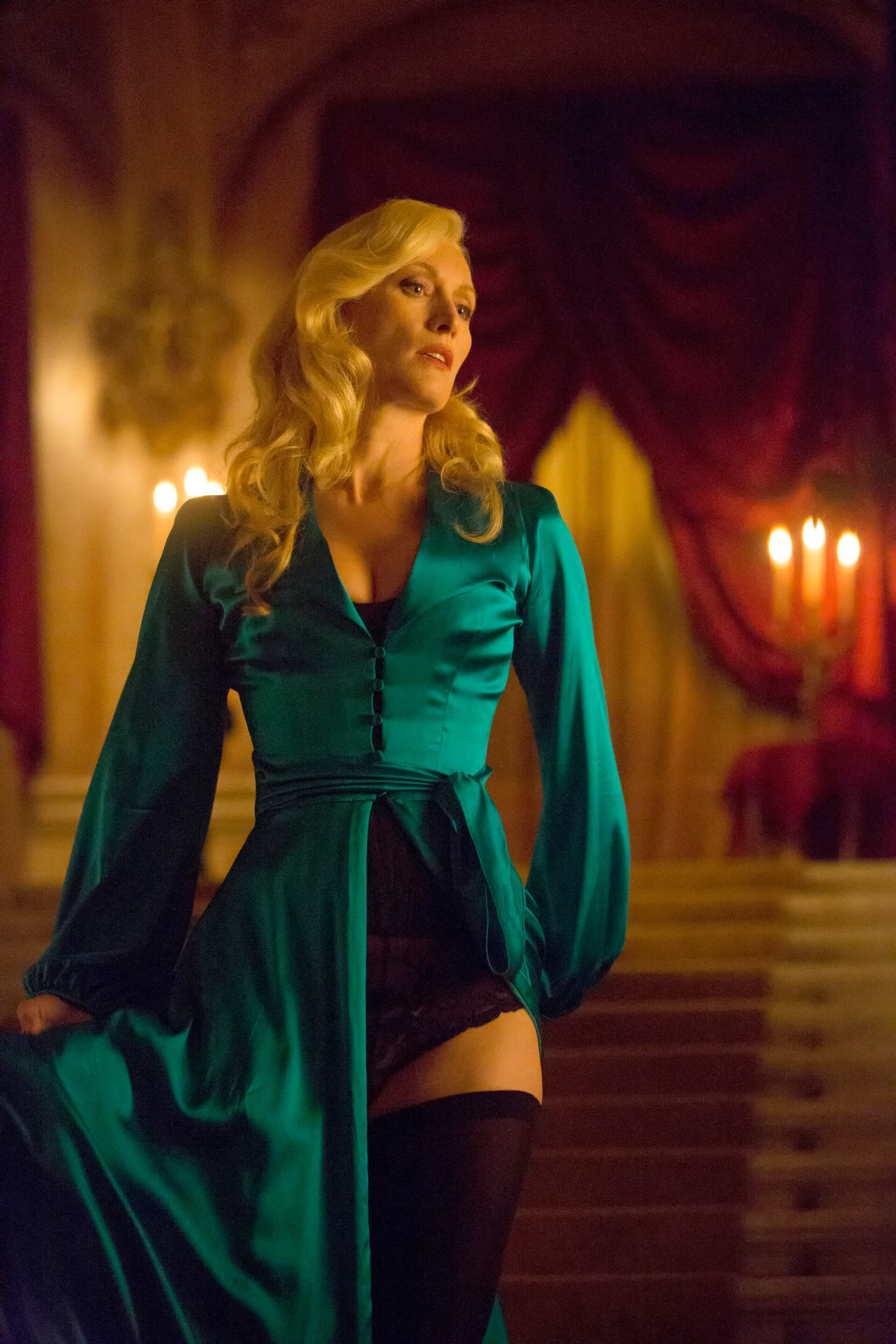 Pictured: Victoria Smurfit as Lady Jayne Wetherby -- (Photo by: David Lukacs/NBC)
