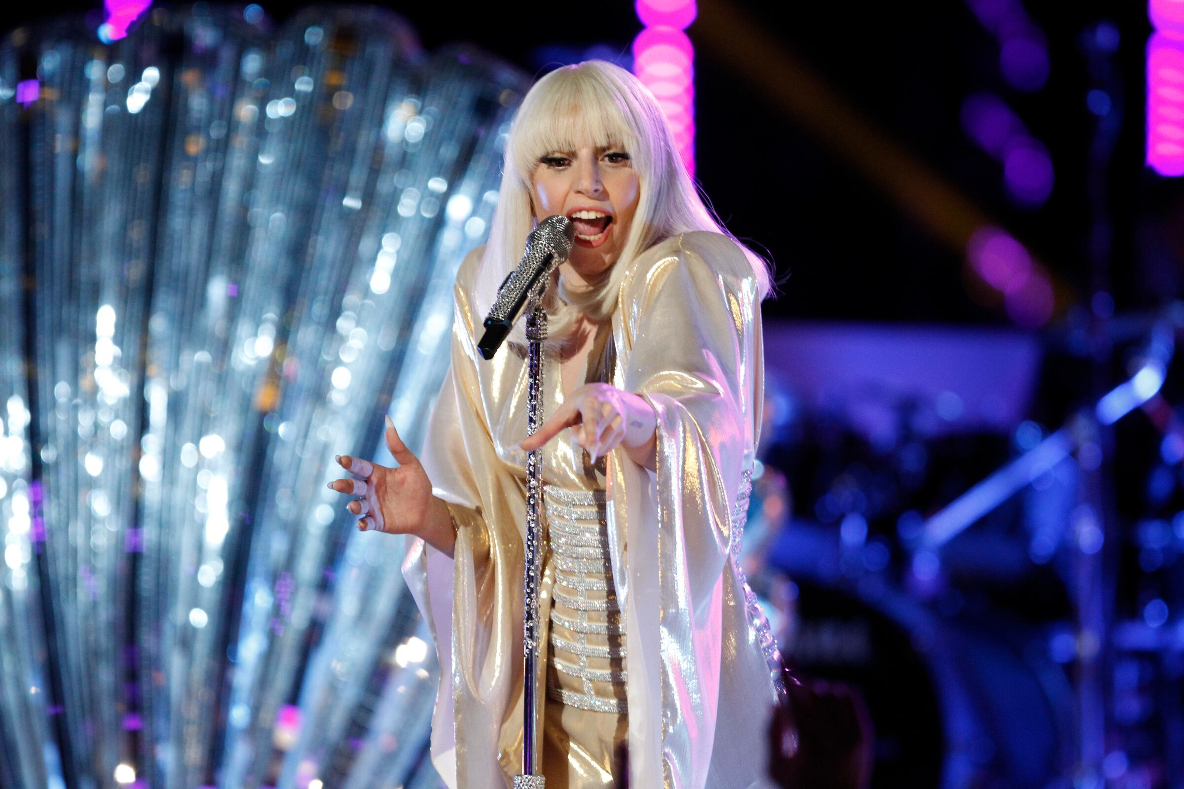 "THE VOICE -- ""Live Finale"" Episode 519B -- Pictured: Lady Gaga  -- (Photo by: Trae Patton/NBC)"
