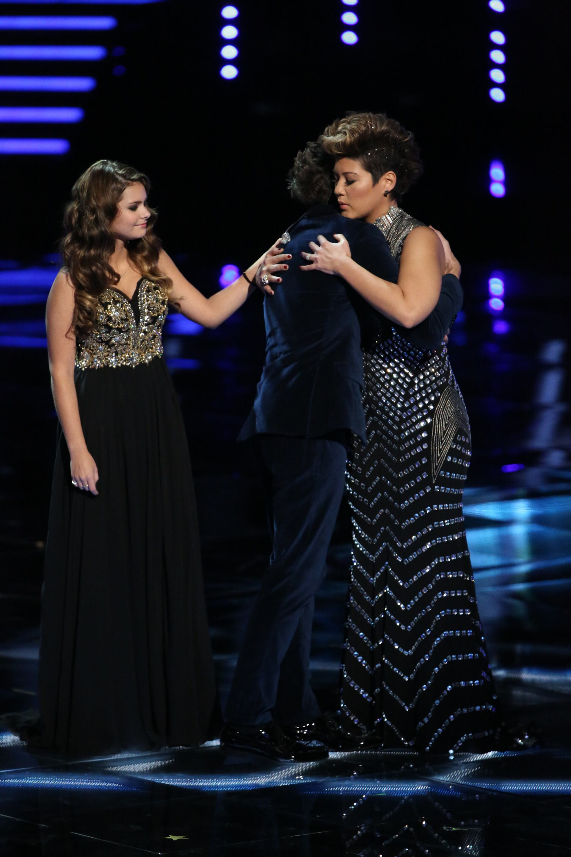 "THE VOICE -- ""Live Finale"" Episode 519B -- Pictured: (l-r) Jacquie Lee, Will Champlin, Tessanne Chin -- (Photo by: Tyler Golden/NBC)"