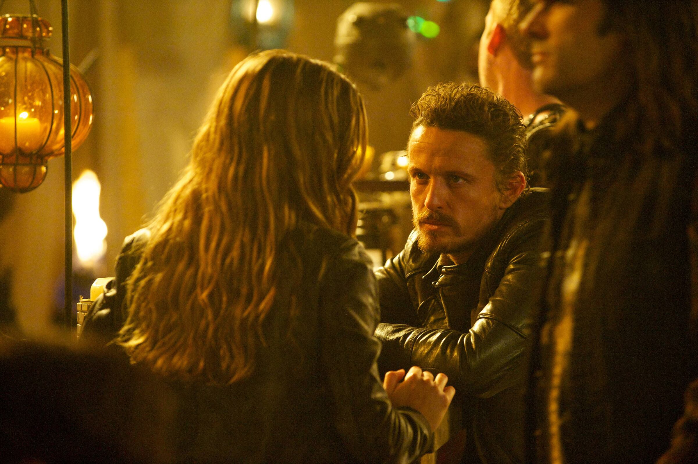 Pictured: (l-r) Tracy Spiridakos as Charlie Matheson, David Lyons as Sebastian Monroe -- (Photo by: Felicia Graham/NBC/NBCU Photo Bank)