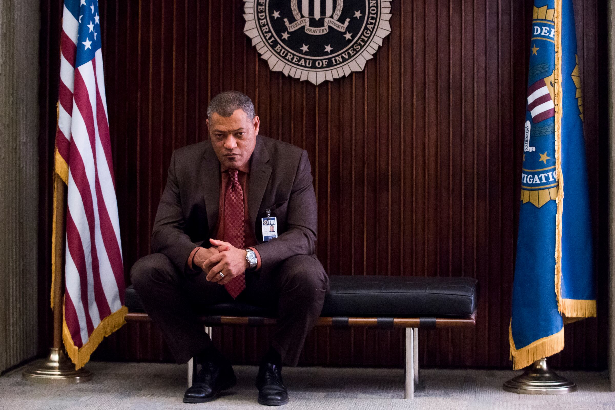 "HANNIBAL -- ""Kaiseki"" Episode 201 -- Pictured: Laurence Fishburne as Jack Crawford -- (Photo by: Brooke Palmer/NBC/NBCU Photo Bank)"