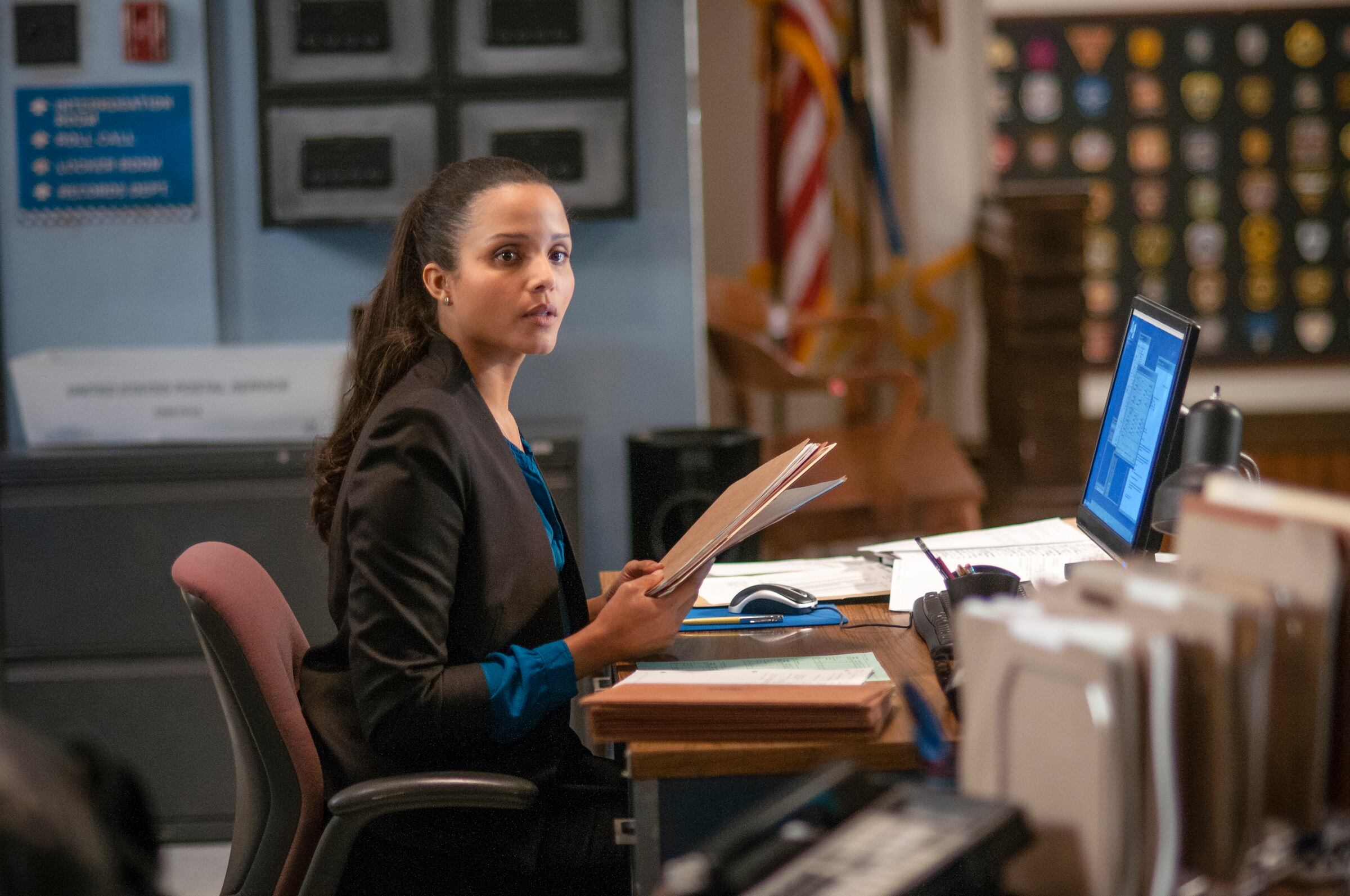 "Photo from the episode ""A Material Witness"""