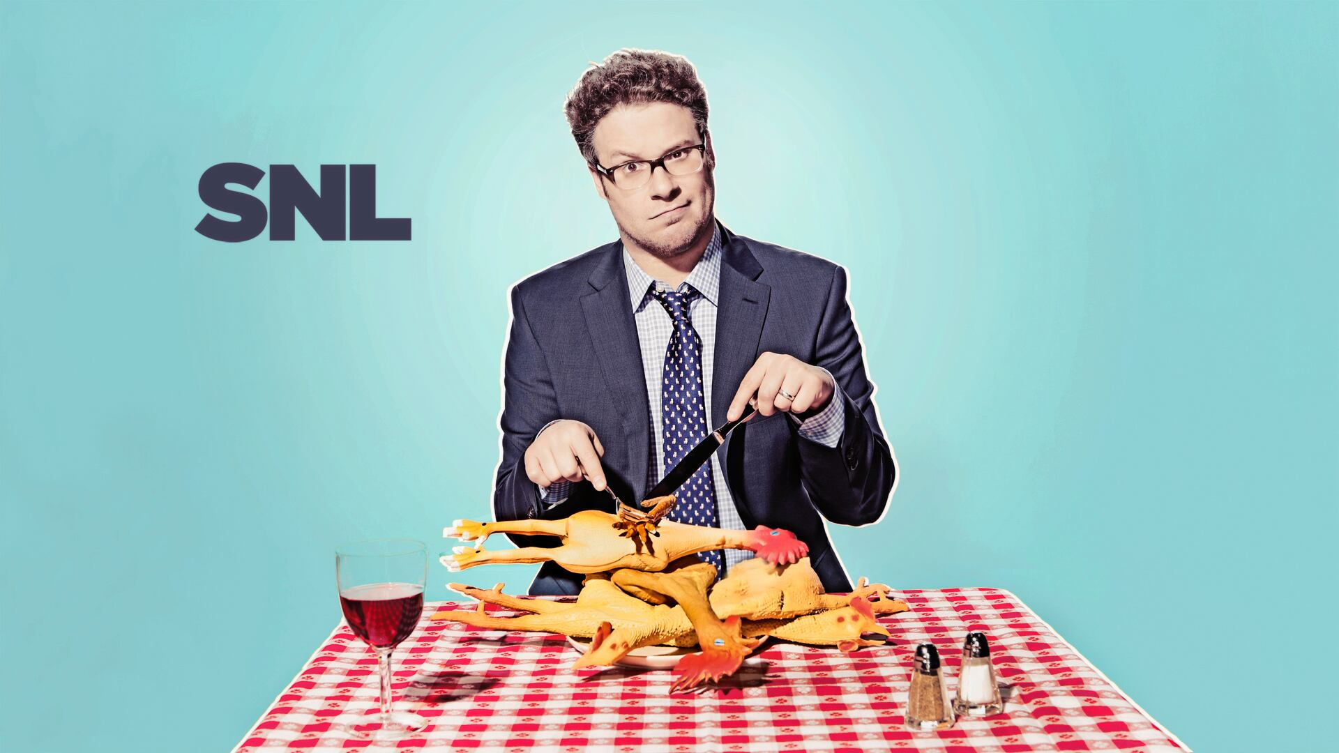 Seth Rogen hosts Saturday Night Live with musical guest Ed Sheeran on April 12, 2014!