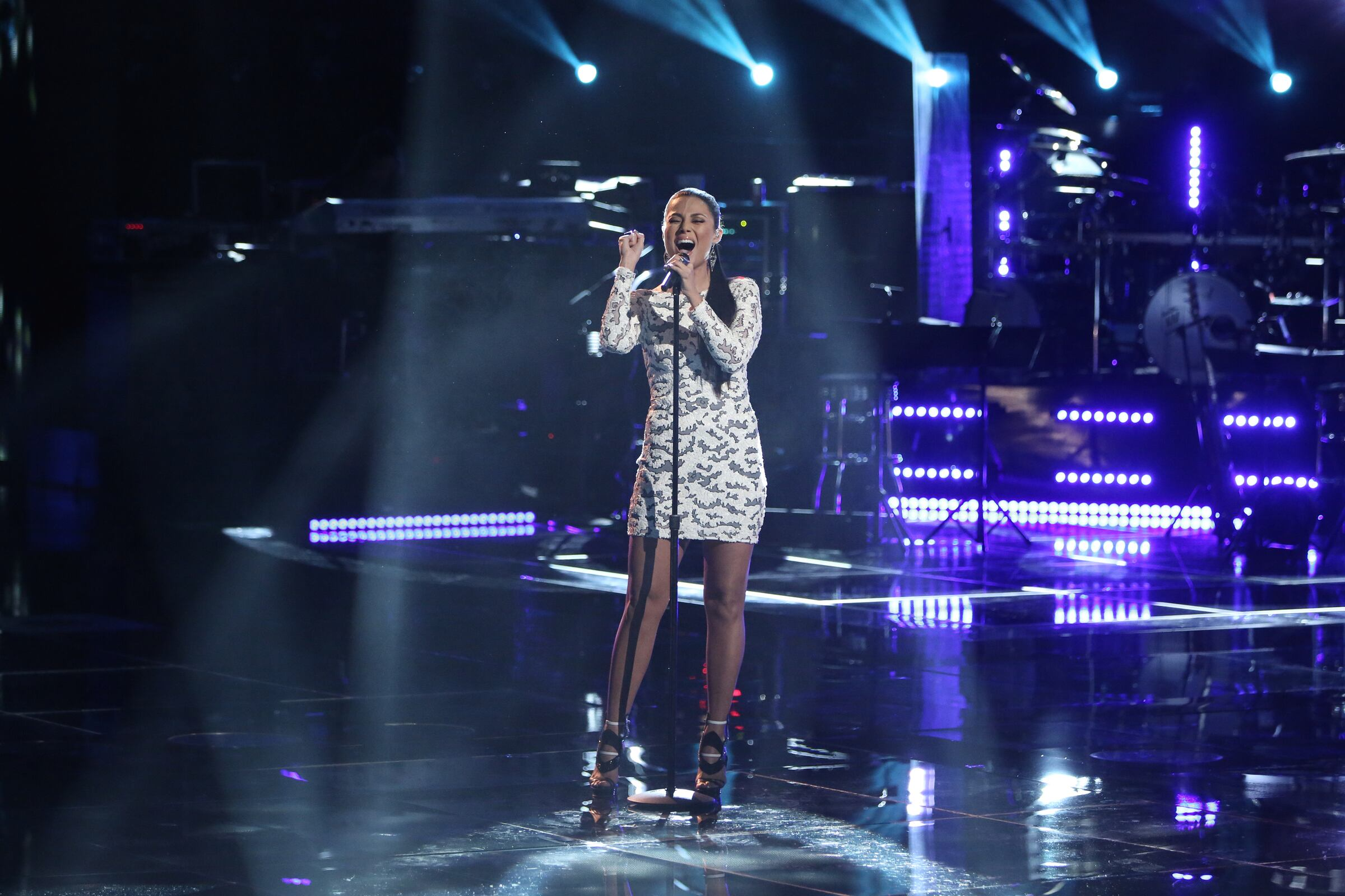 "THE VOICE -- ""Playoffs"" -- Pictured: Melissa Jimenez -- (Photo by: Tyler Golden/NBC)"