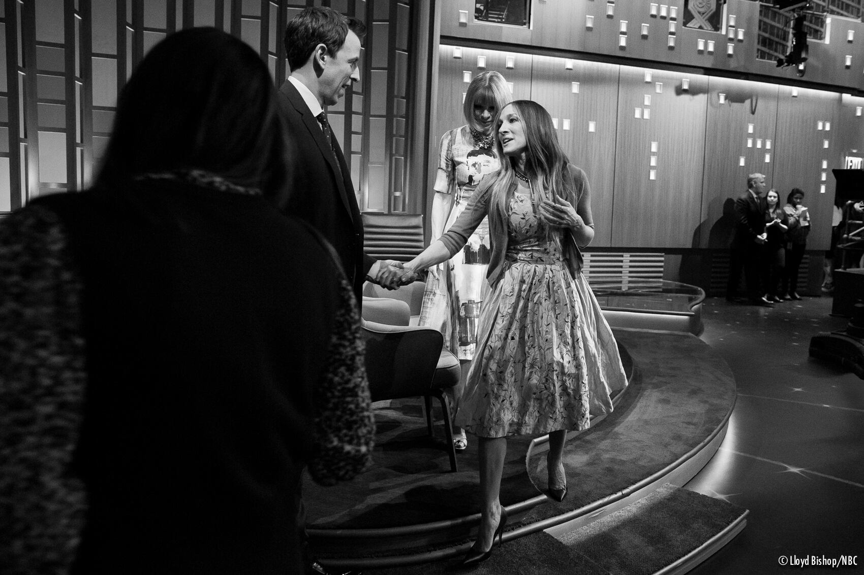 Sarah Jessica Parker and Anna Wintour on Late Night with Seth Meyers