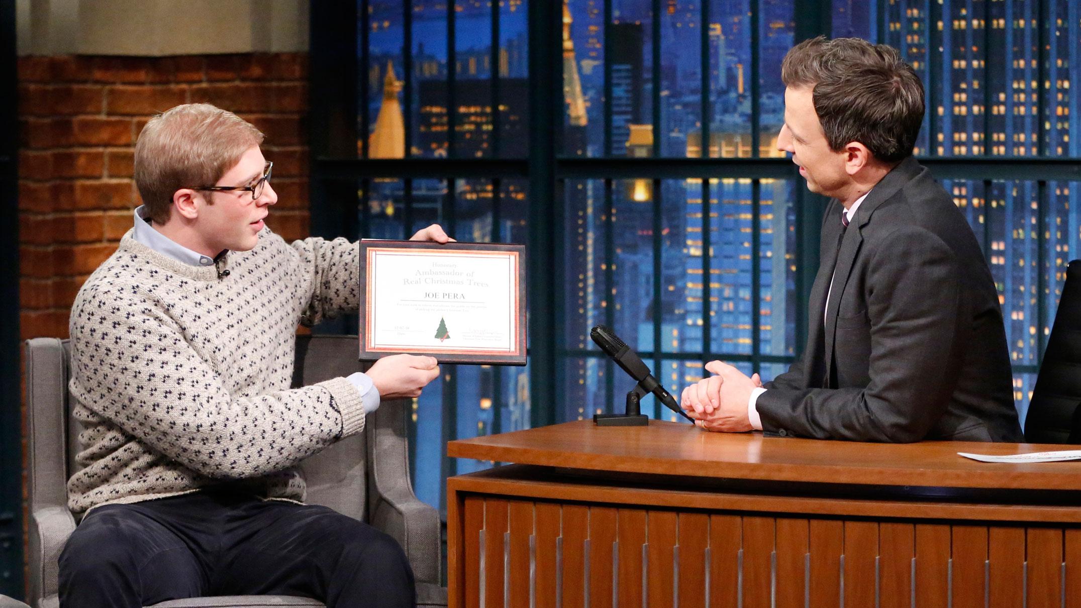 Watch Late Night with Seth Meyers Highlight: Joe Pera Helps Seth ...