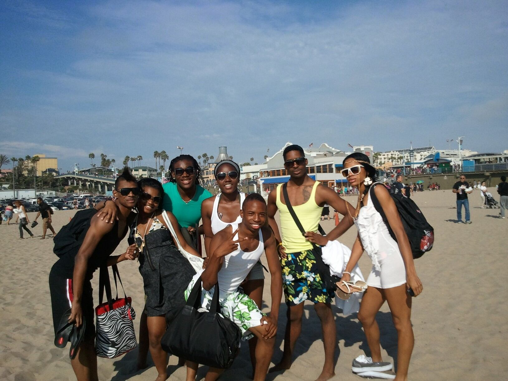 At Santa Monica Beach