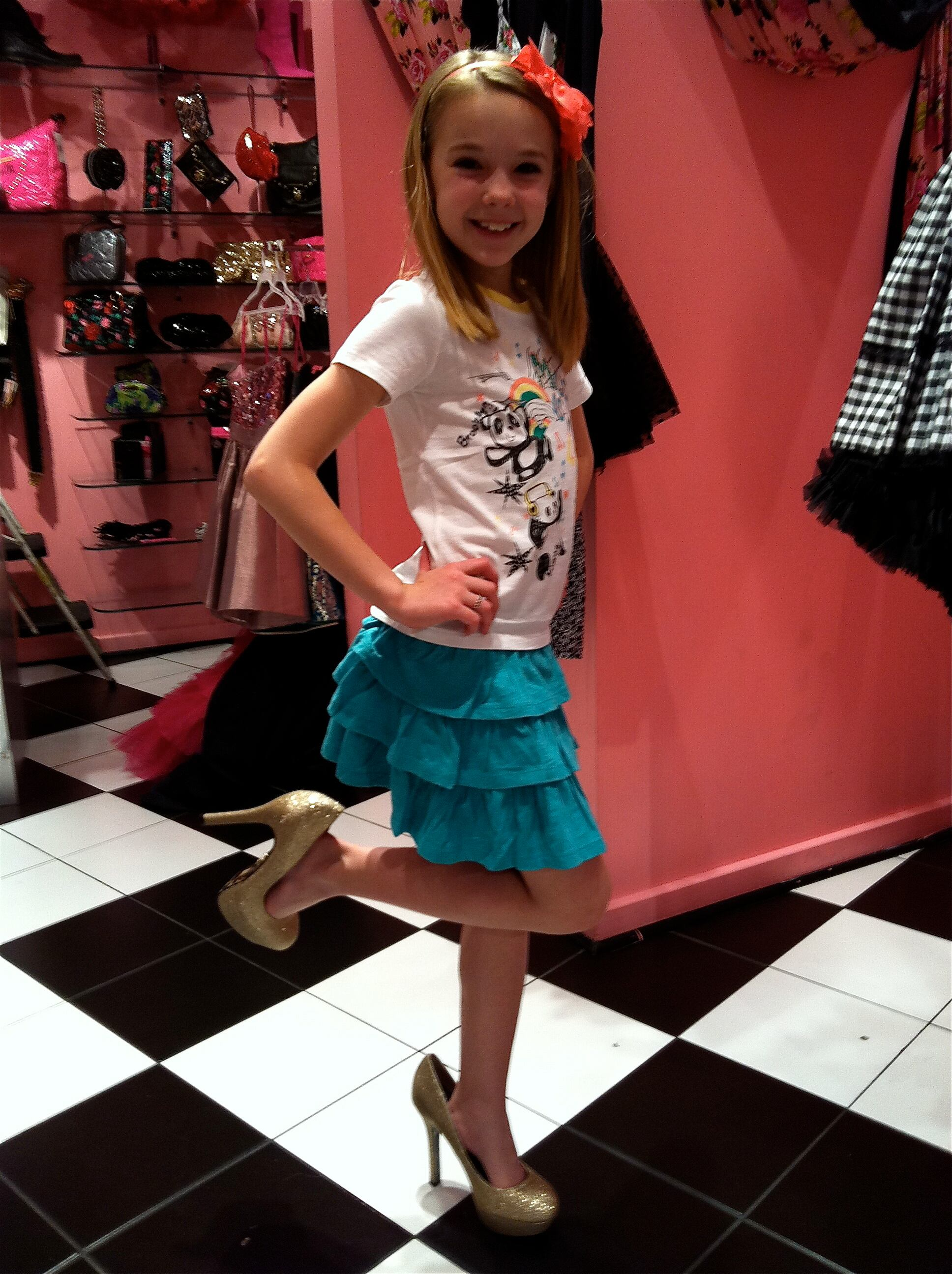 Brooklyn Tryin' on Heels in Vegas