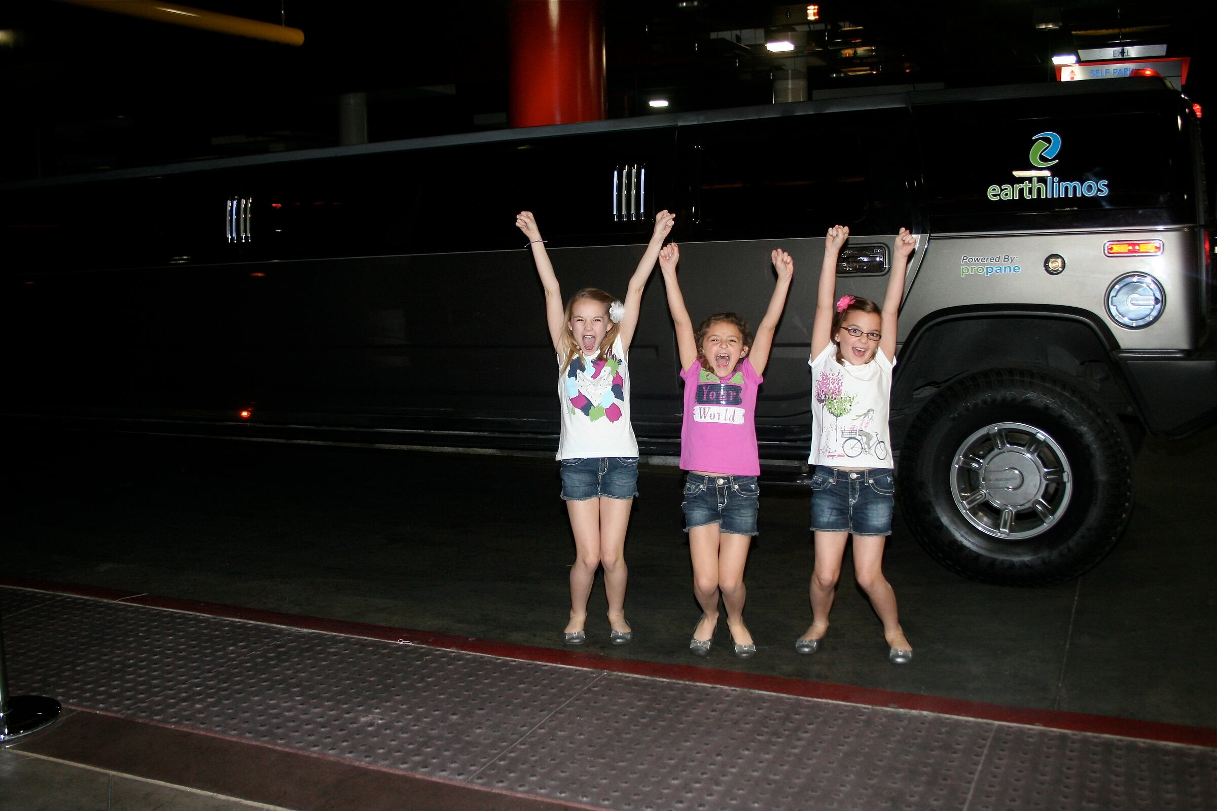 A+CH Celebrating with a Limo in Vegas