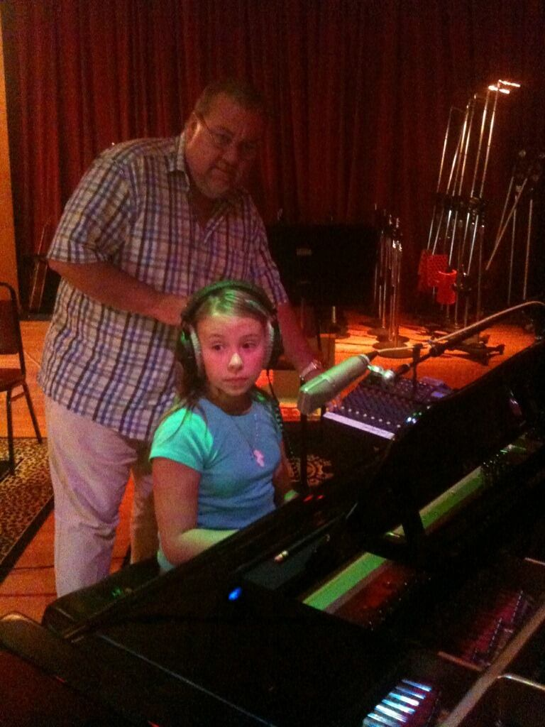 sitting down to the piano for the first time in the agt studios. click track in my ear.