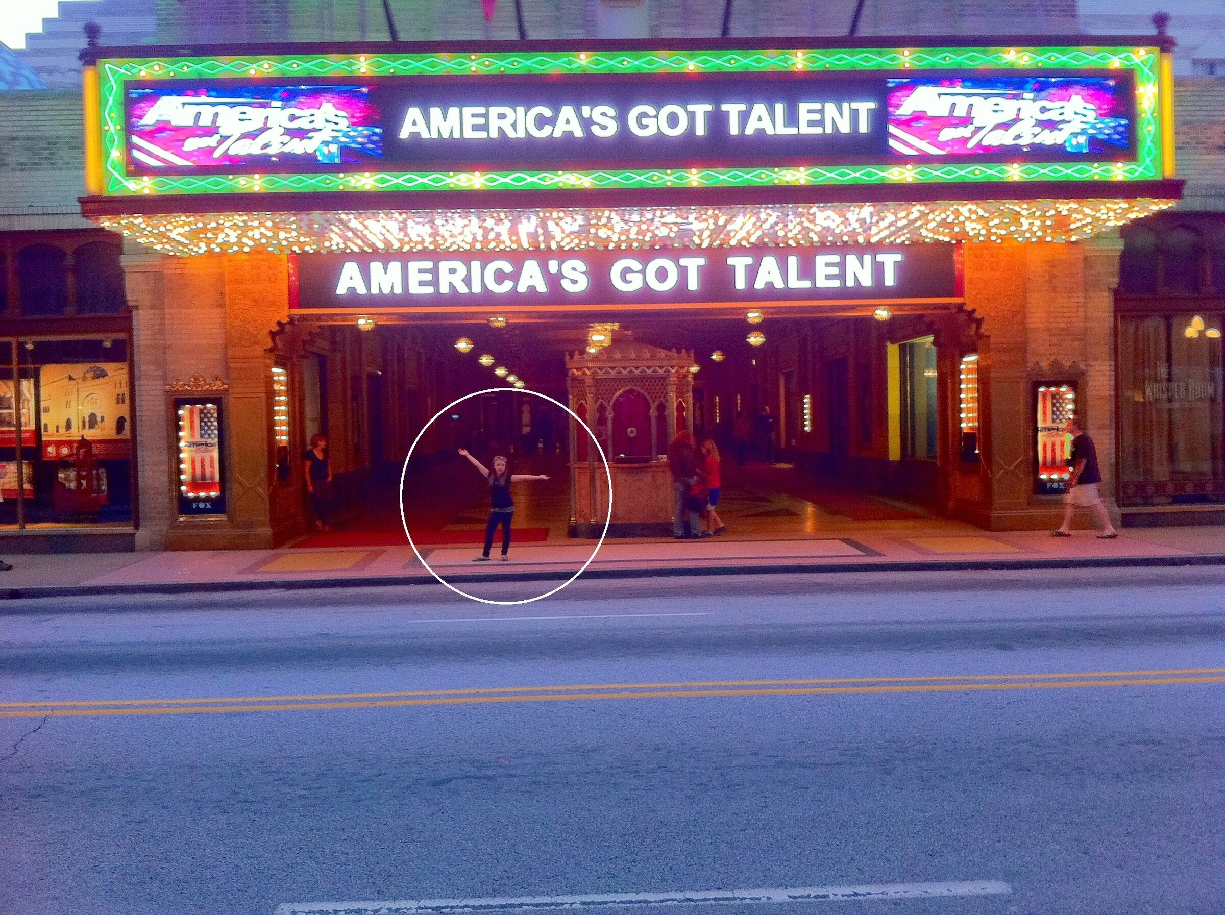 me in front of the fox theater. im sooo small