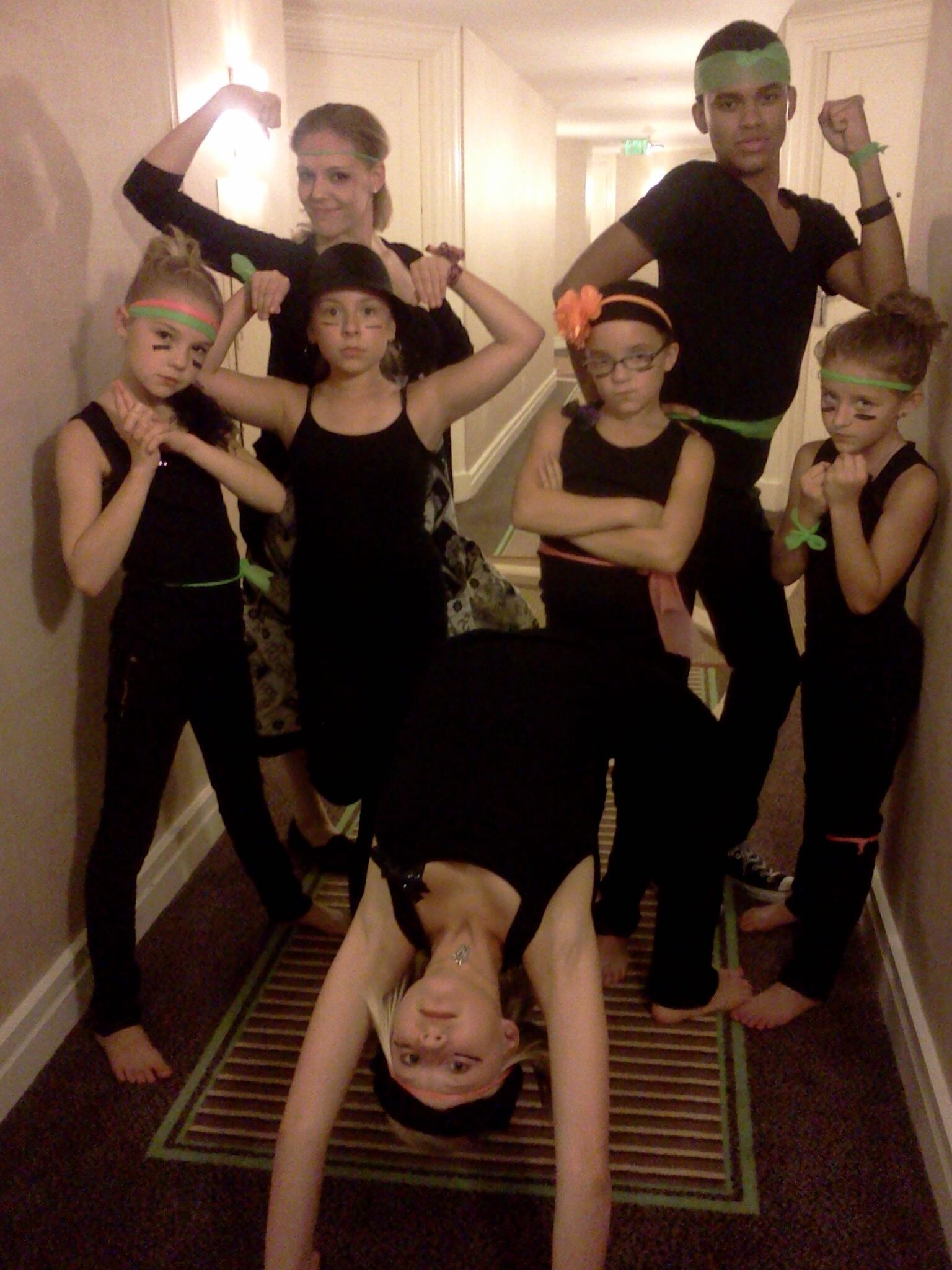 anna playing ninja with agt friends
