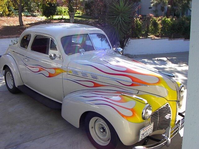 1940 - pontiac, 5 window coupe