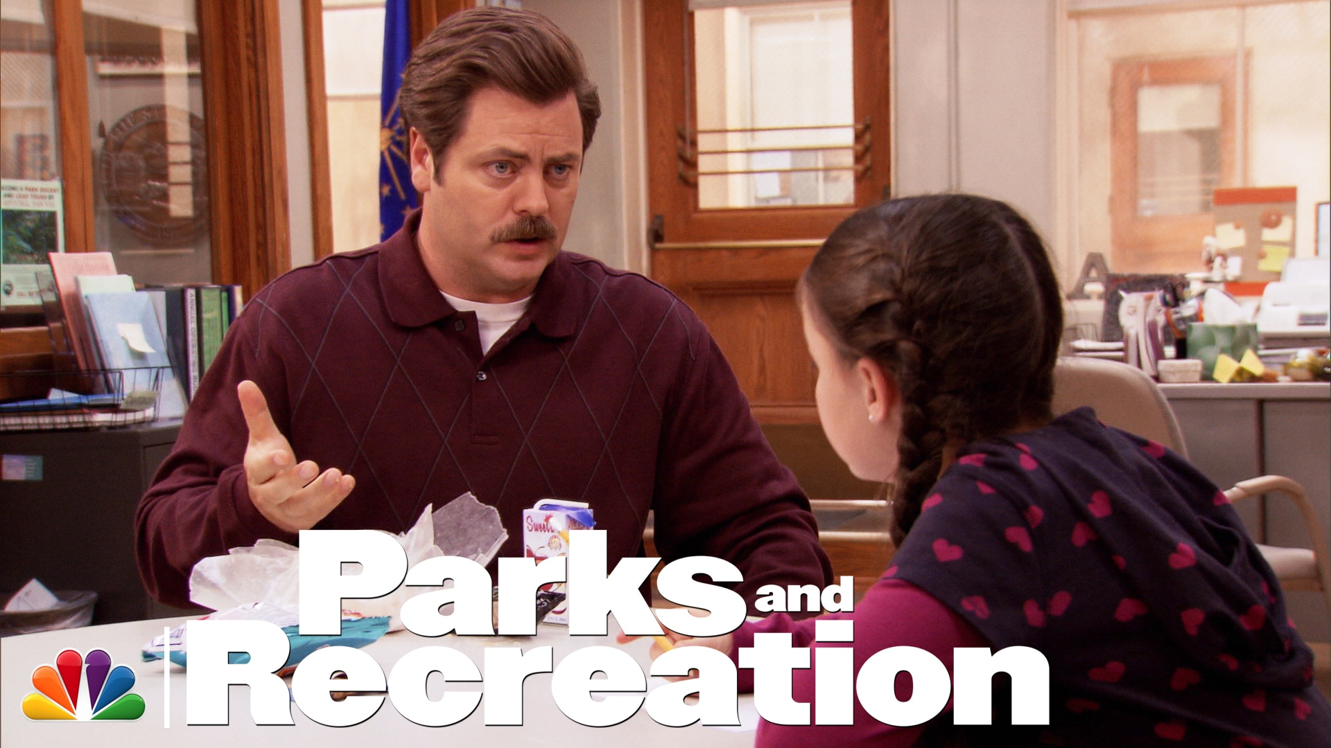 Watch Parks And Recreation Highlight Ron Swanson Talks